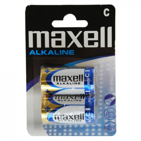 Maxell  tip R14 (C) - Set 2 Baterii Alcaline