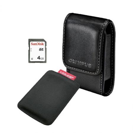 Olympus Smart Accesory Kit - husa, card SD 4GB, LCD pad