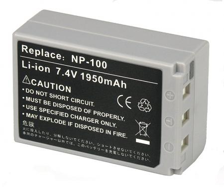 Power3000 PL119G.383 - acumulator tip NP-100 pentru Casio EX-F1, 1950mAh