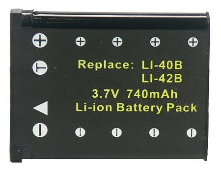 Power3000 PL140B.353 - acumulator tip D-Li63 pentru Pentax, 740mAh