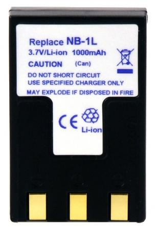 Power3000 PL1LB.309 - acumulator tip NB-1LH pentru Canon, 1000mAh