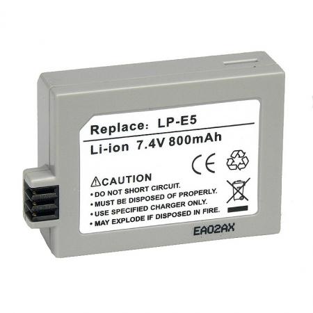 Power3000 PL315G.635 - acumulator tip LP-E5 pentru Canon 450D / 500D /1000D, 800mAh