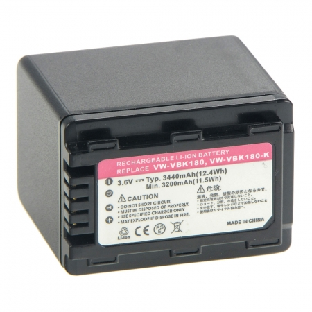 Power3000 PL329B-823 - Acumulator replace tip Panasonic VW-VBK180, VW-VBK360, 3440mAh