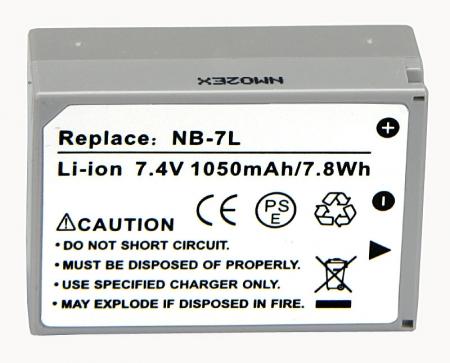 Power3000 PL371G.734 - acumulator tip NB-7L pentru Canon G10/G11/G12/SX30 1050mAh