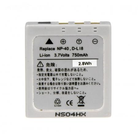 Power3000 PL40L.643 - acumulator tip D-LI8 pentru Pentax, 750mAh