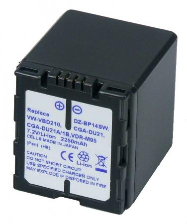 Power3000 PL421D.532 - acumulator tip VBD210, CGA-DU21 pentru Panasonic, 2250mAh