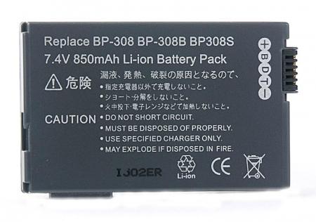 Power3000 PL518M.725 - acumulator tip BP-308 / BP-308B / BP-308S pentru Canon, 850mAh