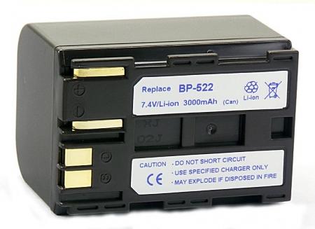 Power3000 PL522W.851 - acumulator tip Canon BP-522, 3000mAh