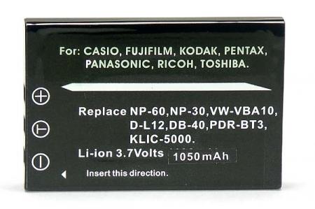 Power3000 PL60B.346 - acumulator tip D-Li2 pentru Pentax, 1000mAh