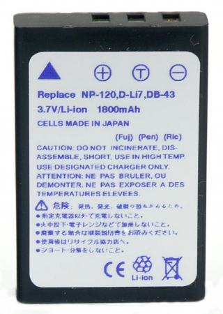 Power3000 PL61B.380 - acumulator tip NP-120 / D-Li7 pentru Fuji, 1800mAh