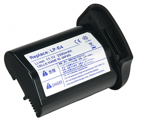 Power3000 PL724B.082 - acumulator tip LP-E4 pentru Canon 1D Mark III/ 1Ds Mark III/ EOS-1DC 4K, 2300mAh
