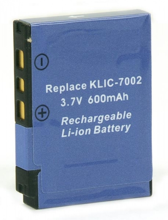 Power3000 PL772J.636 - acumulator tip KLIC-7002 pentru Kodak, 600mAh