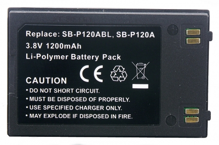 Power3000 PL821B.23P - acumulator tip SB-P120ASL pentru camere video Samsung, 1200mAh, black