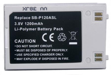 Power3000 PL821S.23P - acumulator tip SB-P120ASL pentru camere video Samsung, 1200mAh, silver