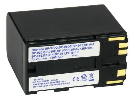 Power3000 PL970B.083 - acumulator tip BP-950G/BP-970 pentru Canon, 6600mAh