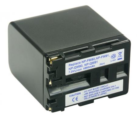 Power3000 PLM901D.855 - acumulator Li-Ion tip NP-FM90 / NP-FM91 pentru Sony, 4860mAh