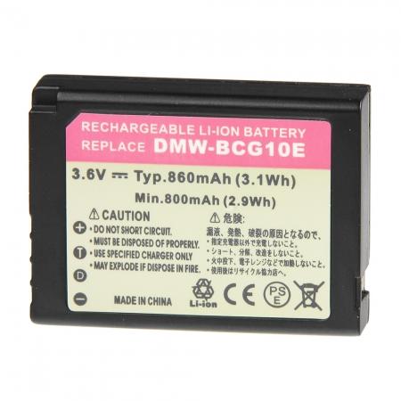 Power3000 PLW154B.725 - acumulator tip DMW-BCG10E pentru Panasonic, 860mAh