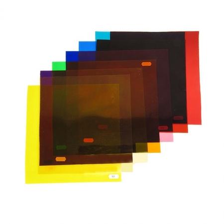 Set de 12 filtre colorate pentru lumina continua 24x30cm
