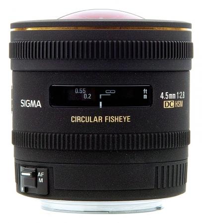 Sigma 4,5mm f/2.8  EX DC FISHEYE circular - Canon EF-S
