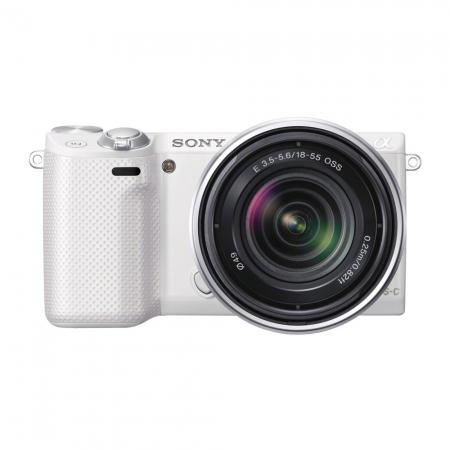 Sony NEX-5RW alb + SEL18-55