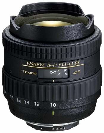 Tokina 10-17mm f/3.5-4.5 ATX DX fisheye pentru Nikon