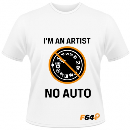 Tricou alb - I am an Artist (No Auto) - M