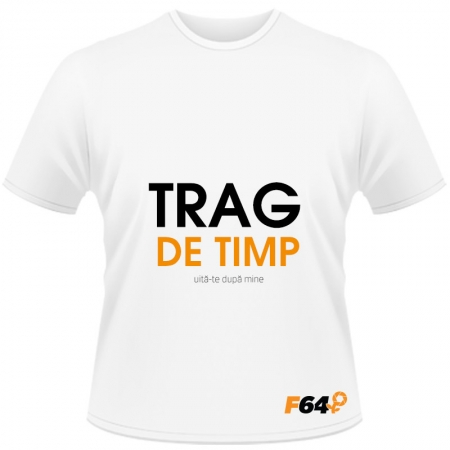 Tricou alb - Trag de Timp - XXL