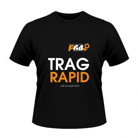Tricou negru -Trag Rapid - L