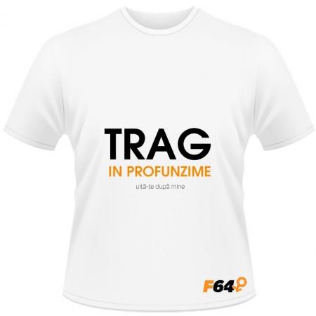 Tricou Trag in Profunzime Alb - XL