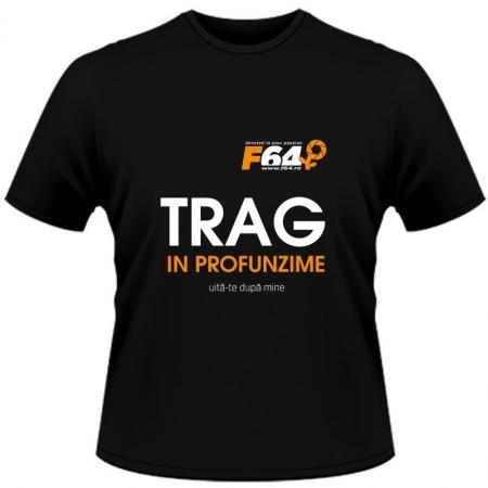 Tricou Trag in Profunzime Negru - XL