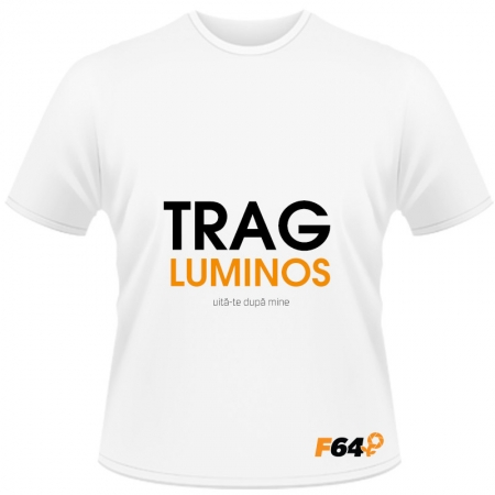 Tricou Trag luminos Alb - L