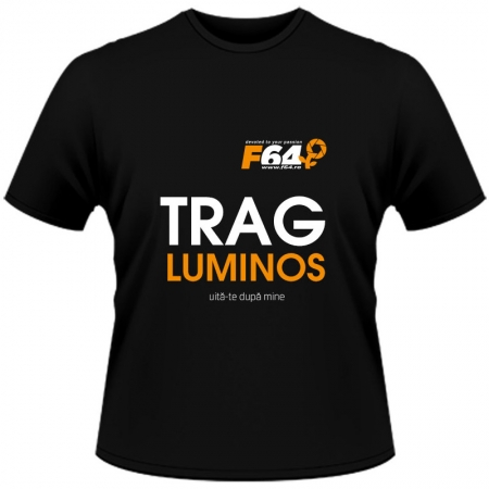 Tricou Trag Luminos Negru - S