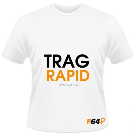 Tricou Trag Rapid Alb - L