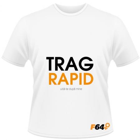 Tricou Trag Rapid Alb - XXL