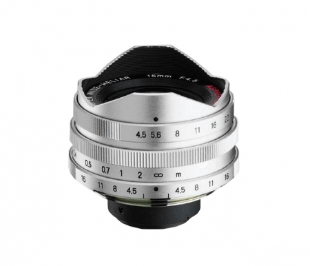 Voigtlander Super Wide Heliar 15mm f/4.5 (filet M39, argintiu) + vizor suplimentar