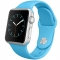 Apple Sport Watch 38 mm Carcasa din Aluminiu Argintiu Curea Sport Albastra