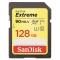 SanDisk Extreme SDXC 128GB, UHS-I, V30, U3, viteza transfer 90MB/s SDSDXVF-128G-GNCIN