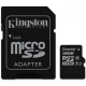 Kingston 32GB microSDHC - Clasa 10, UHS-I, 45MB/s Citire, Card + Adaptor SD