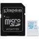 Kingston 64GB microSDXC UHS-I U3 Action Card, 90R/45W + SD Adapter