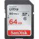 SanDisk SDXC Ultra, 64GB, 80MB/s, UHS-I, U1, Class 10