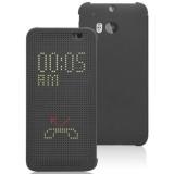 Cronos Husa Dot View pentru HTC One M8 - Gri