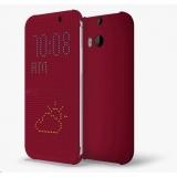 Cronos Husa dot view pentru HTC One M8 - Rosu