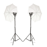 Hakutatz LED-003 - kit lumini LED duble cu umbrele si stative