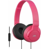 JVC HA-SR185-R-E  Casti tip DJ; ultra-usoare; telecomanda si microfon pe fir; pliabile - rosu