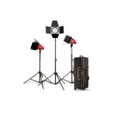 Kast - Kit 3x Red Head Light 800W + Hard Case