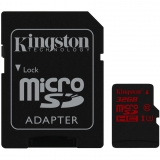 Kingston 32GB microSDHC UHS-I Class U3 90MB/s citire 80MB/s scriere + Adaptor SD