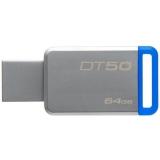 Kingston DataTraveler 50 64GB, USB 3.0 (Metal/ Albastru)