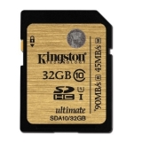 Kingston SDHC Ultimate 32GB  Class 10 UHS-I 90MB/s read 45MB/s write Flash Card