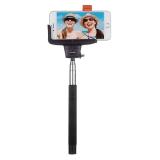 KitVision BTSSPHBK - Selfie Stick extensibil cu control actionare shutter pe bluetooth si suport de telefon, Negru