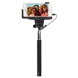 KitVision WDSSPHBK - Selfie Stick extensibil cu control actionare shutter pe fir si suport de telefon, Negru